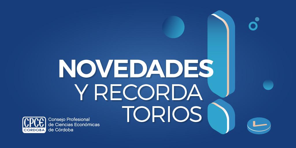 CPCE Córdoba @CPCECordoba: Hacé click para conocer todas las #novedades sobre ajustes, resoluciones, normas y más ???? https://t.co/wmSVnxPrFk https://t.co/76G7gq3E8K