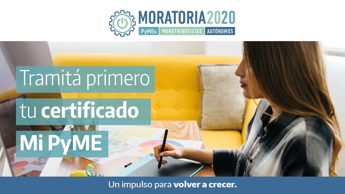 Afip Comunica @AFIPComunica: #Importante > Hasta el 30 de abril tenés tiempo para obtener el Certificado MiPyme que otorga el @PRODUCCION_ARG y poder acceder a la #Moratoria2020  Enterate cómo hacerlo en > https://t.co/YEOewsrEqO #VolverACrecer https://t.co/99EG5C7dPz