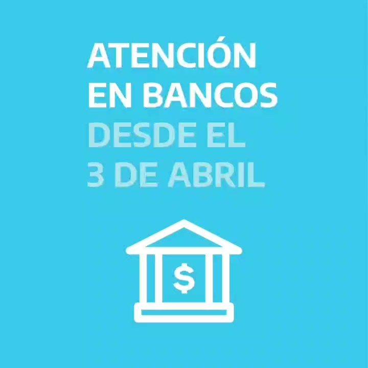 ANSES @ansesgob: #Importante desde el 3 de abril los bancos abrirán exclusivamente para el cobro de prestaciones de la seguridad social https://t.co/AbMFELaG0i
