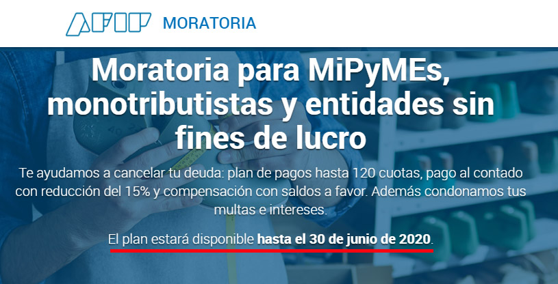 El Contador Online News @ElContadorNews: AFIP instrumenta la prórroga de la Moratoria para MiPyMEs. Más Info >> https://t.co/n1WExbtou3 https://t.co/k5ZHHu43J9