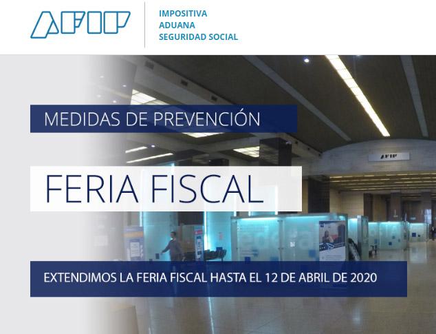 El Contador Online News @ElContadorNews: #AFIP extiende la Feria fiscal administrativa entre los días 1 y 12 de abril de 2020, ambos inclusive. Más Info >> https://t.co/H65DUDzPty https://t.co/PjqLhOgv9L