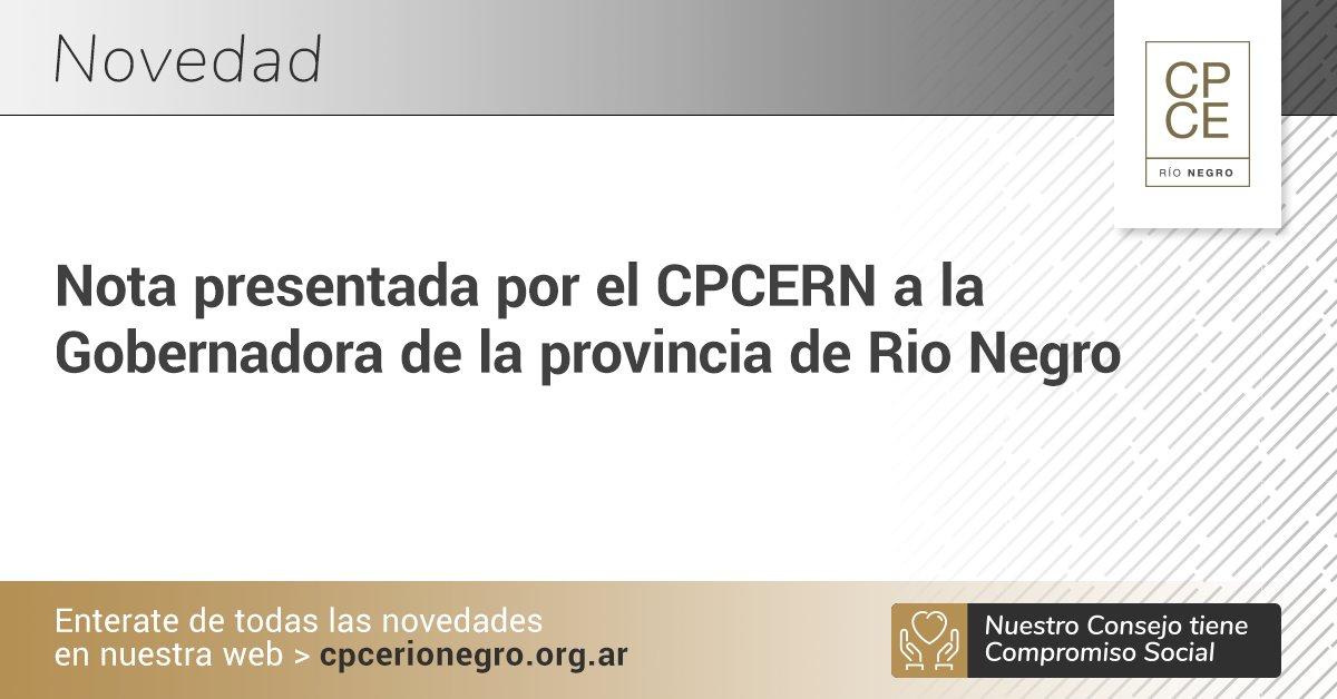 CPCE Río Negro @CPCERioNegro: • Nota presentada por el CPCERN a la Gobernadora de la provincia de Rio Negro •  ➡️ https://t.co/tCNRzYQ5ST https://t.co/98thWdOJ72