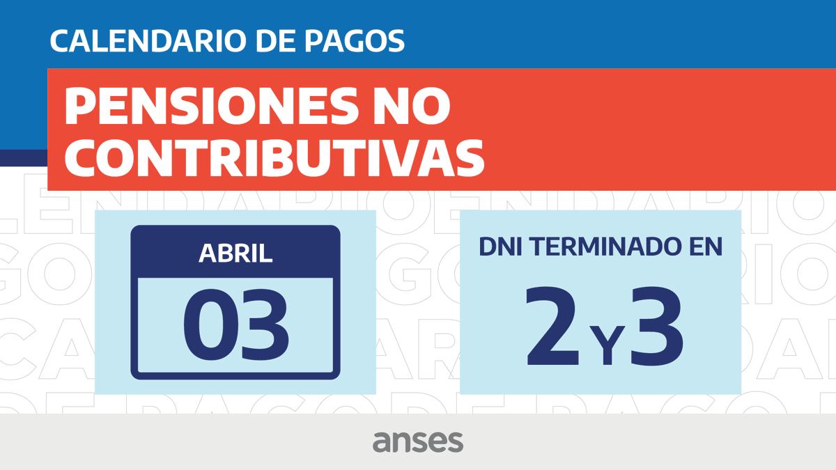 ANSES @ansesgob: Calendario de Pagos #ANSES del 3 de abril de 2020 #PNC ???? https://t.co/y7f6wT43uw