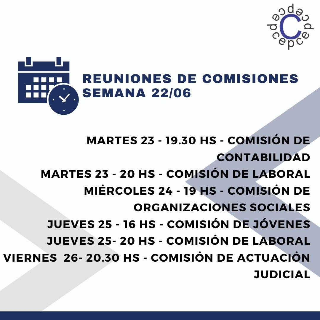 CPCE La Rioja @cpcelr: ????Agenda nuestras reuniones de Comisiones Asesoras de esta semana!! https://t.co/PxnMXIeUEL