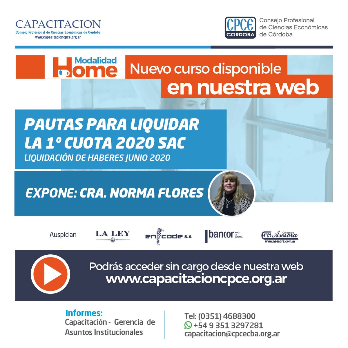 CPCE Córdoba @CPCECordoba: Pautas para liquidar la 1º cuota 2020 SAC. Liquidación haberes #Junio, en la web de Capacitación ➡️https://t.co/SShjf0Afdx⬅️ https://t.co/VHEFQIteCH
