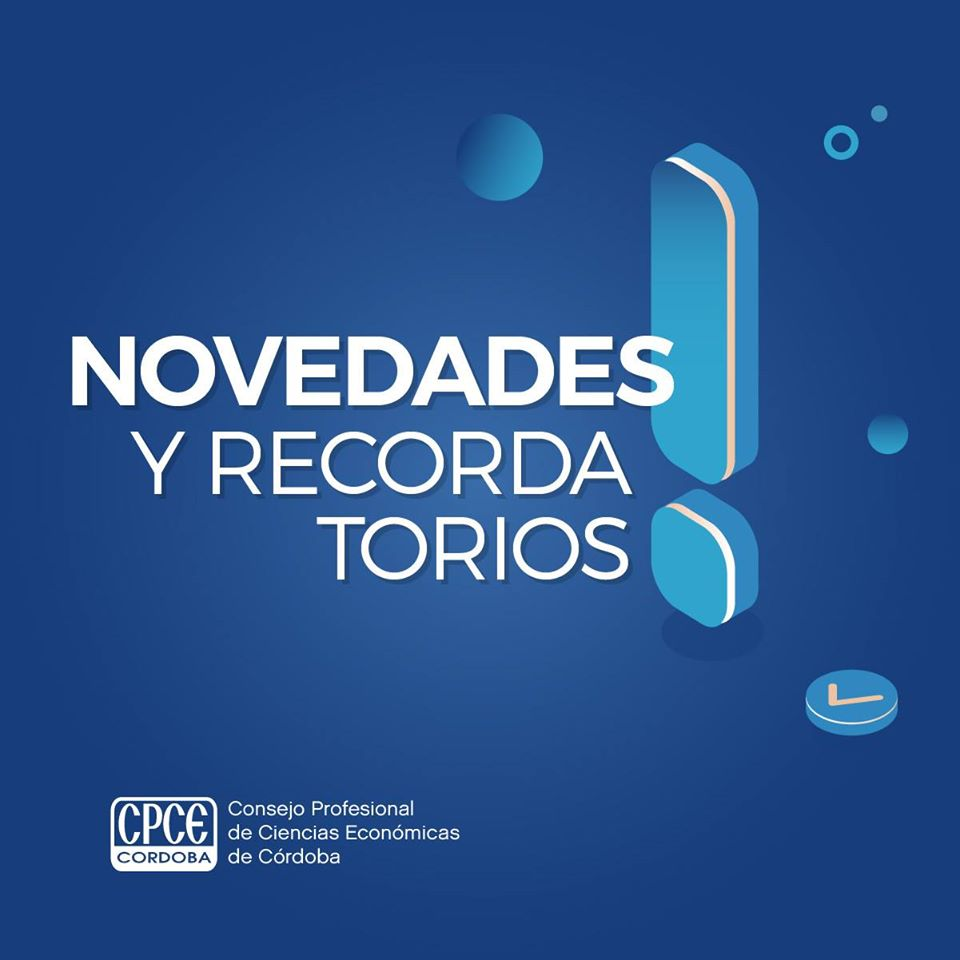 CPCE Córdoba @CPCECordoba: Hacé click para conocer todas las novedades sobre ajustes, resoluciones, normas y más ???? https://t.co/wmSVny733U https://t.co/RY1FnCsXur