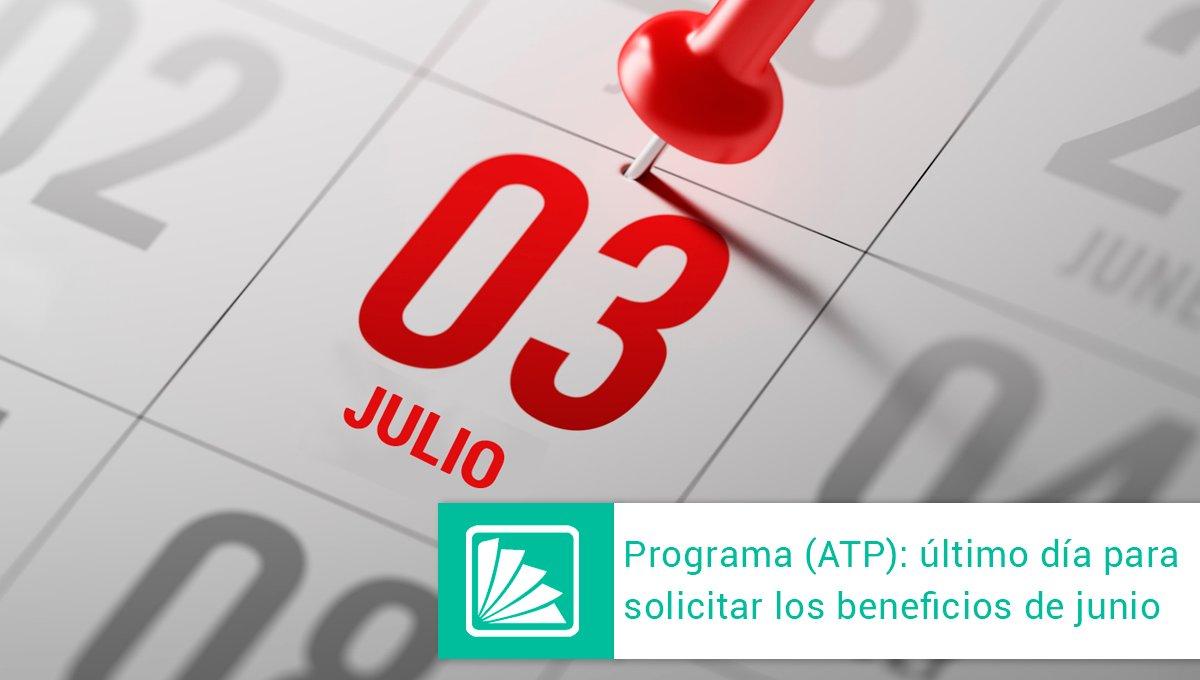 Editorial Errepar @errepar: Hoy vence el plazo para inscribirse en el Programa ATP a través del sistema web de la AFIP y solicitar los beneficios del período junio 2020, conforme la RG (AFIP) 4746. Se deberá tener en cuenta que la solicitud puede demorarse varias horas -> https://t.co/SndZKdB4RM https://t.co/AlGTGWnvLQ