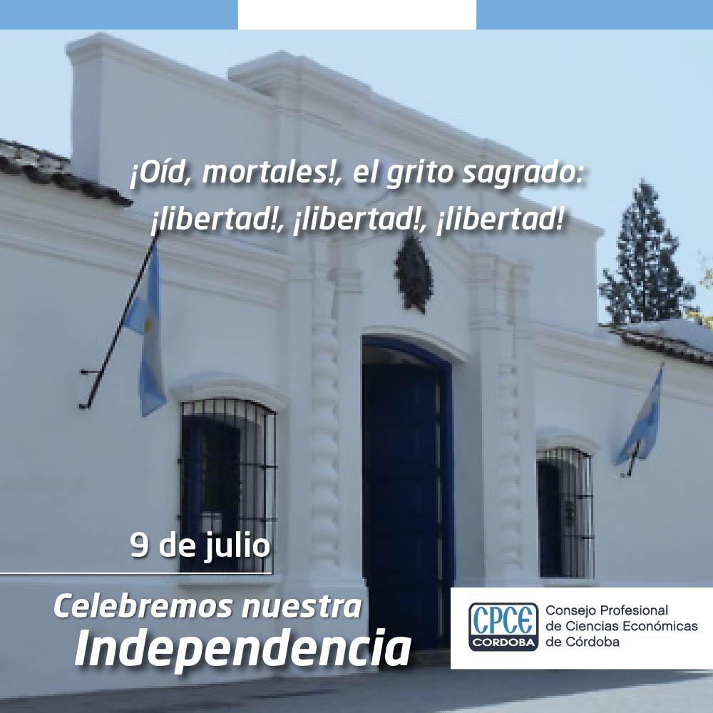 CPCE Córdoba @CPCECordoba: #9deJulio 1816-2020 hoy cumplimos 204 años de libertad Sean eternos los laureles, que supimos conseguir!  ¡Feliz día de la Independencia #Argentina! ???????? https://t.co/vJr9aPqbLK