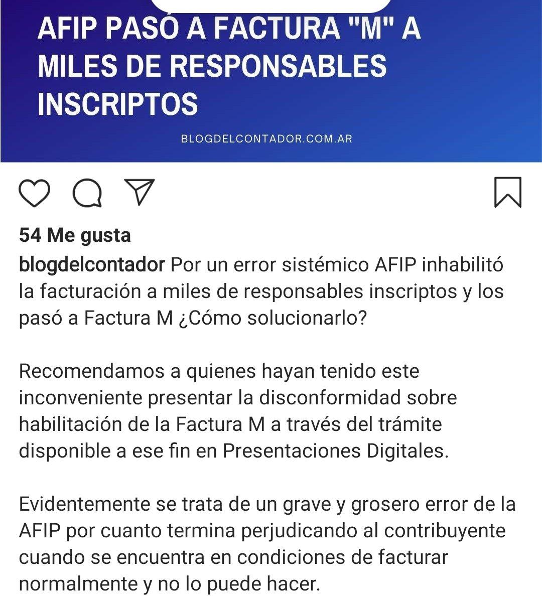 Marcelo D. Rodriguez @mrconsultores3: Factura M.  Error de Sistemas…… https://t.co/gFXp5dhR0I