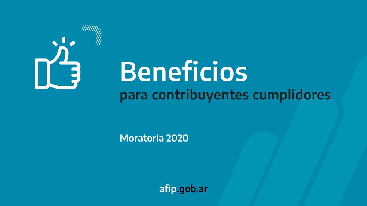Afip Comunica @AFIPComunica: Hasta el 30 de noviembre es posible adherir a los beneficios para contribuyentes cumplidores: exenciones para monotributistas, deducción especial de ganancias para autónomos y amortización acelerada por inversiones para las micro y pequeñas empresas. #Moratoria2020 https://t.co/pVArjwtILS