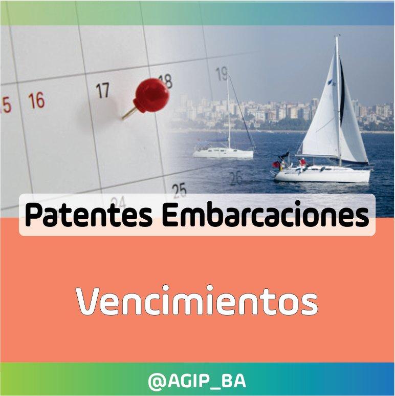 AGIP @AGIP_BA: Patentes Embarcaciones: Se prorrogó el pago de la Cuota única Anual, pudiendo abonarse hasta el día 30/11. Más información en el siguiente link: https://t.co/X5TS2CF4Pr https://t.co/DmtpWgftjc