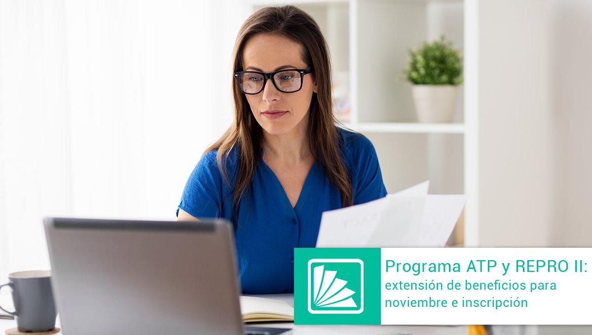 Editorial Errepar @errepar: La AFIP habilitó el sistema de inscripción al ATP para noviembre 2020. También se extienden los beneficios del ATP y REPRO II: –Salario complementario: se incorpora a las guarderías y jardines maternales –REPRO II: se disponen las condiciones de acceso -> https://t.co/EJnONinqZa https://t.co/LNo6FrwEp3