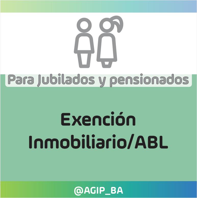 AGIP @AGIP_BA: Si necesitás realizar una solicitud de exención del impuesto Inmobiliario/ABL, para jubilados y pensionados, ingresá desde aquí: https://t.co/vnwpOuyZaz https://t.co/OceL3Scvqx