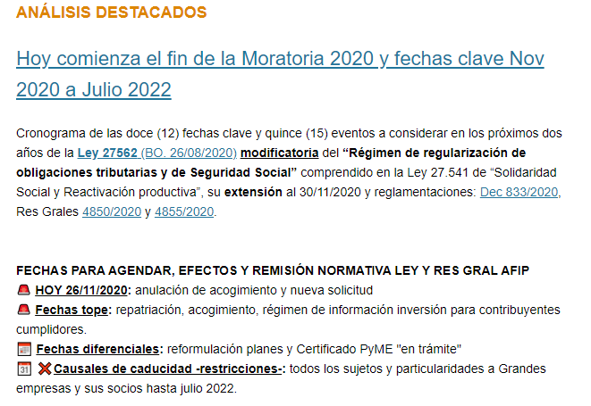 Tributum News @tributumcomar: ???? Hoy comienza el fin de la #Moratoria2020 y fechas clave Nov 2020 a Julio 2022 ????  ????Cronograma de las doce (12) fechas clave y quince (15) eventos a considerar en los próximos dos años. ????Acceso ????  ????https://t.co/NQ713k4tcV https://t.co/RVOsb98wSD