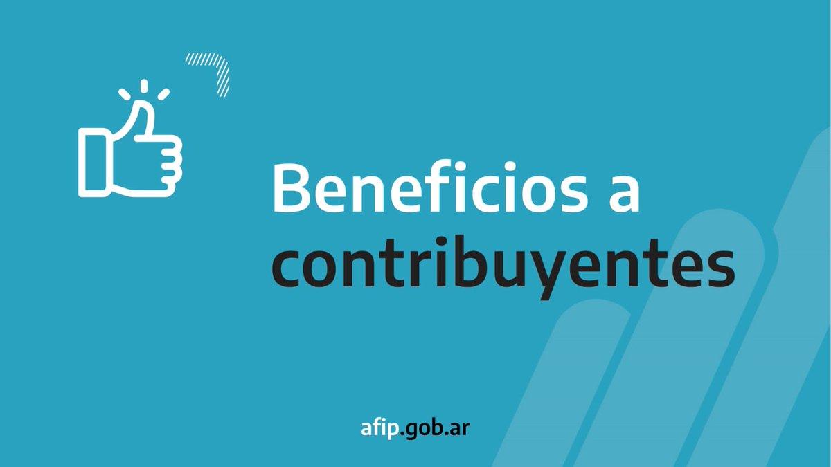 Afip Comunica @AFIPComunica: AFIP extiende hasta el 31 de diciembre la vigencia de distintos beneficios para facilitar trámites y aliviar el impacto económico de la pandemia sobre las y los contribuyentes. https://t.co/w87yPon7WE