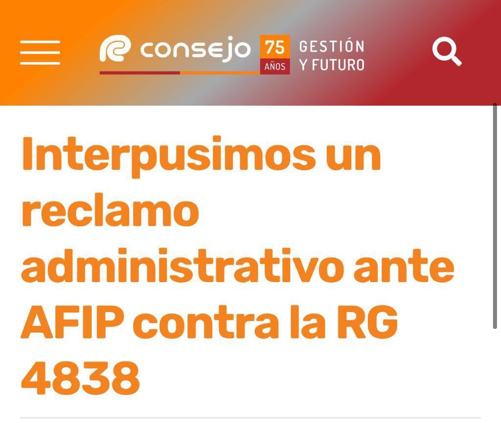 Teresa Gomez @te_gomez: Los 24 Consejos Profesionales solicitan la derogación de la RG 4838 – Consejo Profesional de CABA https://t.co/ipSNVTp4bf
