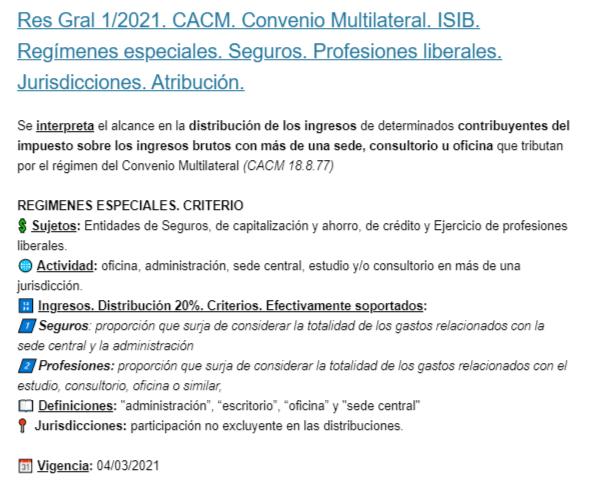 Tributum News @tributumcomar: ????Tributum – 24/02/2021 – Nro. 5762????  ????Res Gral 1/21. CACM. Convenio. ISIB. Regímenes especiales. Profesiones liber. Jurisdicciones. Atribución ⚖️JURISPRUDENCIA FEB 2021: Denegatoria reintegro  Exportadores; Reorganización soc. y Prescripción de #tributoslocales @DiegoRubio_???? https://t.co/x8XRRDQ3Ck