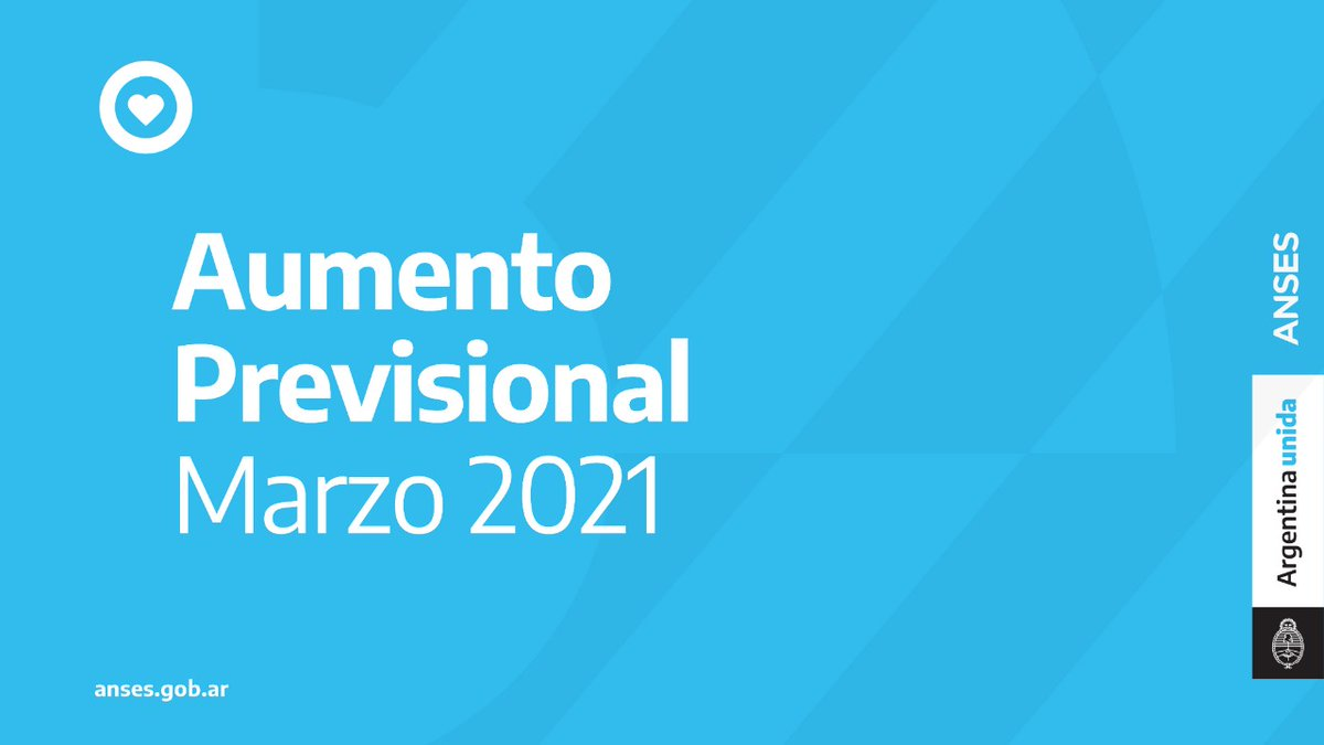 ANSES @ansesgob: AUMENTO DE HABERES MARZO 2021 ⬆️ https://t.co/QmmAEkY3VK