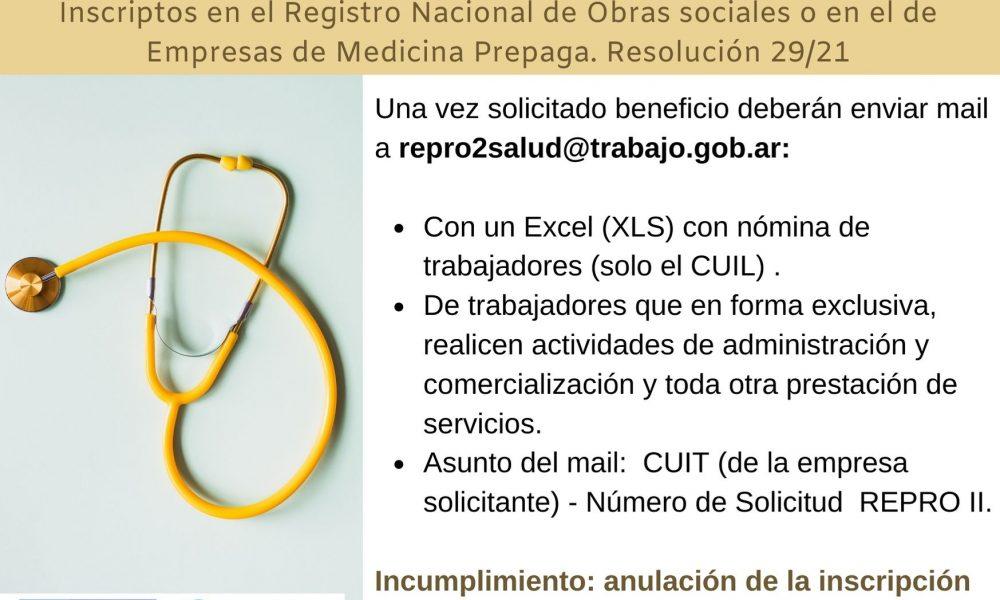 Contadores En Red @Contadoresenred: ???? REPRO II Listado Empresas del sector salud que pueden acceder. Resolución 96/21 ➡️ https://t.co/64tMXz18Yd https://t.co/zoE7ZgeKVE