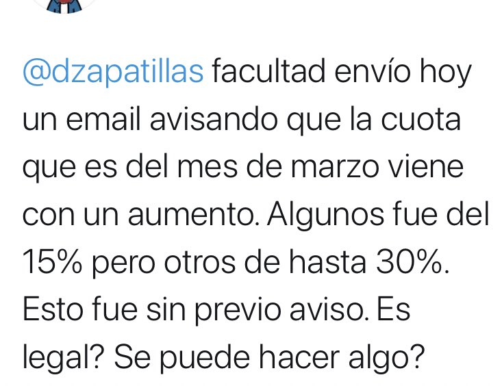 Derecho en Zapatillas @dzapatillas: Siempre debería tener preaviso el aumento. Abrazo https://t.co/nhTloFISpE