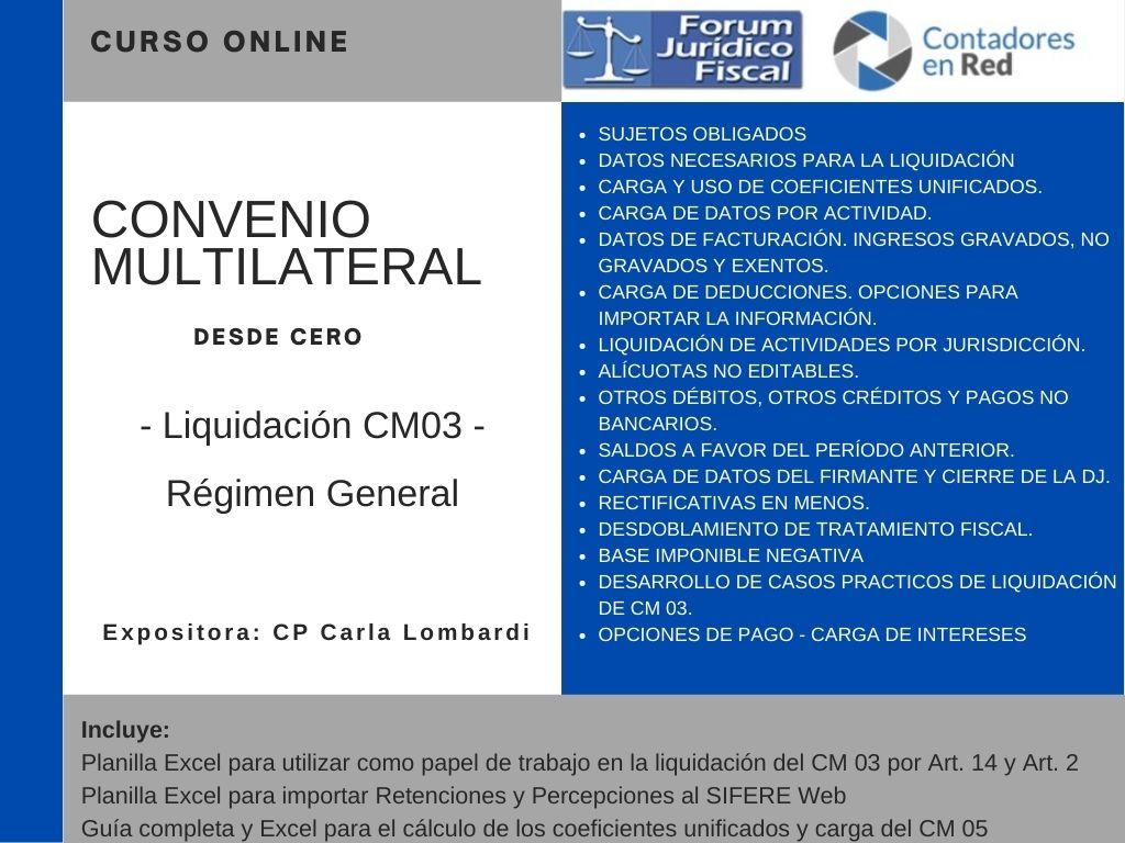Contadores En Red @Contadoresenred: ???? Nuevo curso online: Convenio Multilateral desde cero. Liquidación del CM 03 Régimen General. ???? Disponible a partir del 8/3/2021 ➡️ Acceso gratuito para suscriptores @forumfiscal  https://t.co/pZFetLFP0A https://t.co/EqD0VBKcc2