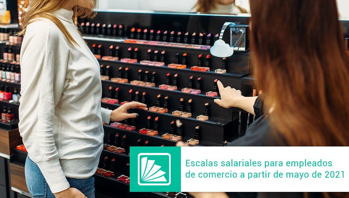 Editorial Errepar @errepar: La FAECYS publicó las tablas de salarios básicos correspondientes al nuevo acuerdo salarial de la actividad mercantil homologado por la resolución (ST) 471/2021, que incluyen los incrementos de carácter no remunerativo que rigen desde el mes de mayo 2021. https://t.co/fK3ebhY8nb https://t.co/Aw8qUnm7uW