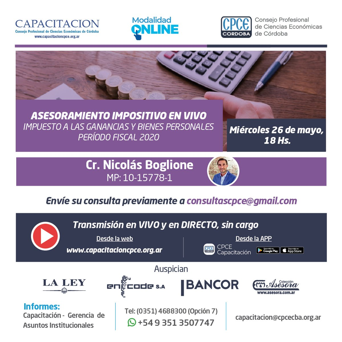 CPCE Córdoba @CPCECordoba: Más información en https://t.co/SShjf0Afdx y en la App CPCE Capacitación ???? https://t.co/WBciTs1vNx