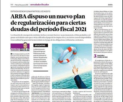 Novedades Fiscales @novedadesfisca1: Por su parte, el Dr. Ricardo H. Ferraro, aborda en detalle el nuevo plan de regularización que dispuso  ARBA para cierta deudas del período fiscal 2021. https://t.co/Zg4UzhAbdi