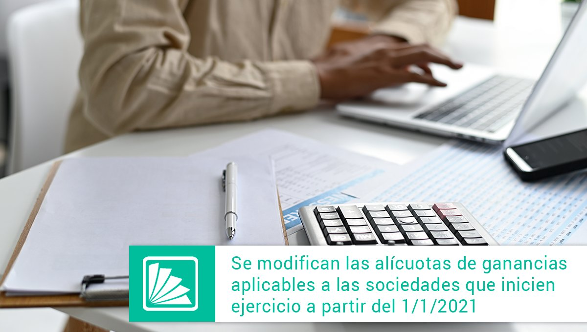 Editorial Errepar @errepar: Se publicó en el boletín oficial la ley 27630 que modifica las alícuotas del impuesto a las ganancias aplicable a la sociedades cuyos cierres de ejercicio fiscal se inicien a partir del 1/1/2021.  Conocé cuáles son los puntos principales: https://t.co/CF9HF7H8f6 https://t.co/R1bIdjuYCJ