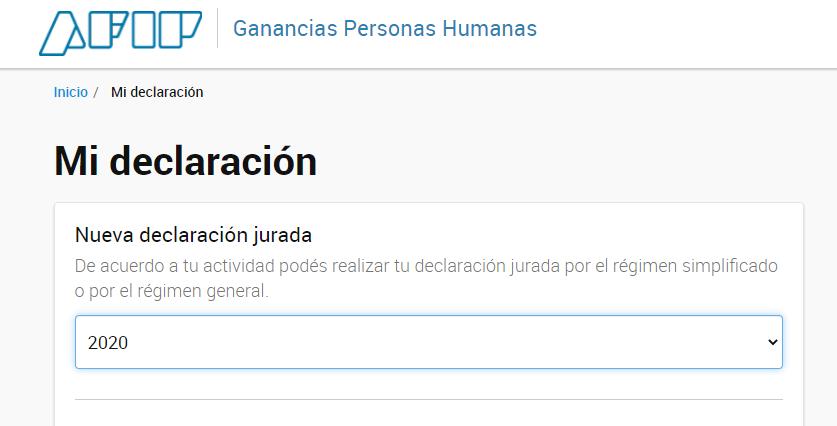 Blog del Contador @BlogDelContador: ????ÚLTIMO MOMENTO????  AFIP habilitó el servicio Ganancias Personas Humanas para la presentación de las DDJJ del período fiscal 2020. https://t.co/Sx64atIdOz