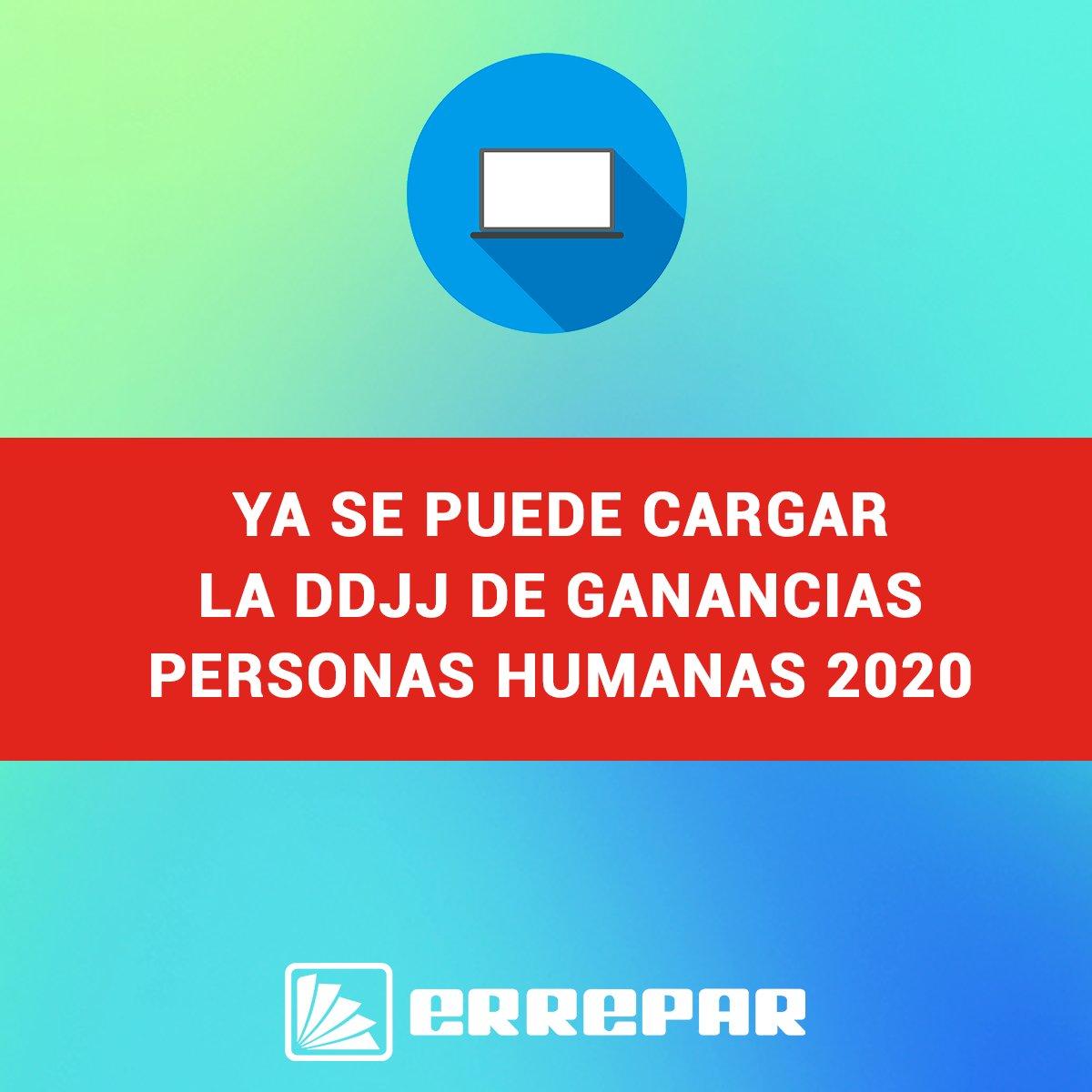 Editorial Errepar @errepar: ¡ULTIMA NOTICIA! ???? Finalmente, la AFIP habilitó el servicio web Ganancias Personas Humanas e Impuestos Cedular para presentar la DDJJ 2020 ???? https://t.co/Kdbz7iSbzf