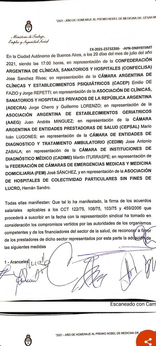 Marcelo D. Rodriguez @mrconsultores3: SANIDAD  Se firmó la paritaria de Sanidad.  Ahora hay que esperar que se publiquen las resoluciones que derivan de este acuerdo. https://t.co/osVeX9UDUl