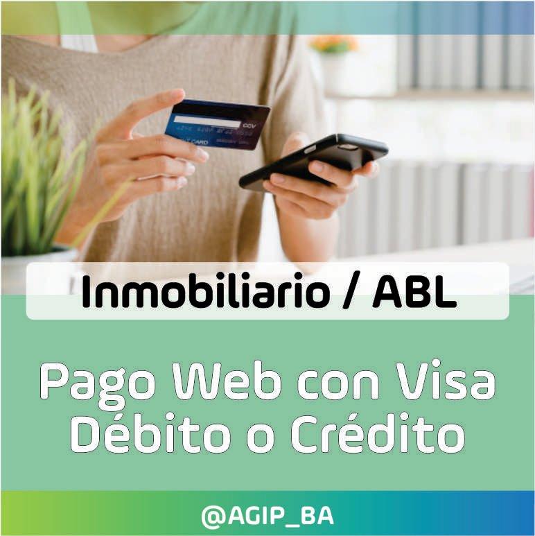 AGIP @AGIP_BA: Pagá con Visa Crédito o Débito tus boletas de Inmobiliario/ABL desde nuestra web: https://t.co/TQNySKZFXh https://t.co/ly6ItPk6UK