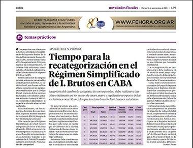 Novedades Fiscales @novedadesfisca1: El Dr. Ricardo H. Ferraro aborda en esta edición,  la recategorización en el Régimen Simplificado en de I. Brutos en CABA https://t.co/f5VUGHB4tB