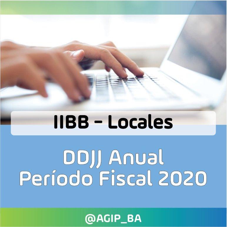 AGIP @AGIP_BA: Ingresos Brutos: Del 20 al 24 de septiembre vence la Declaración Jurada Anual de Contribuyentes Locales período fiscal 2020. Más Información en: https://t.co/BvZGjfcpWk https://t.co/uK9vw0IRuT