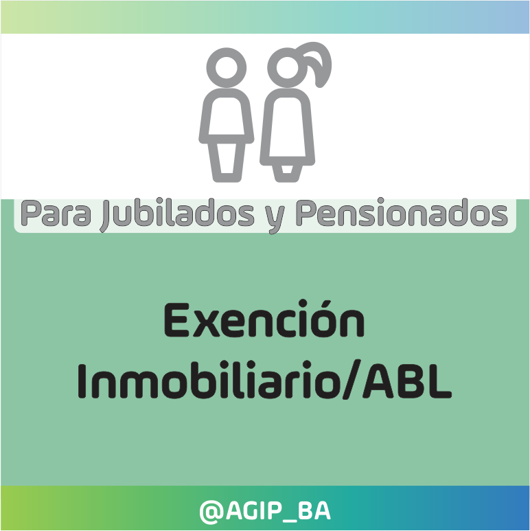 AGIP @AGIP_BA: Si necesitás realizar una solicitud de exención del impuesto Inmobiliario/ABL, para jubilados y pensionados, ingresá desde aquí: https://t.co/vnwpOuyZaz https://t.co/WdUPc9LAkG