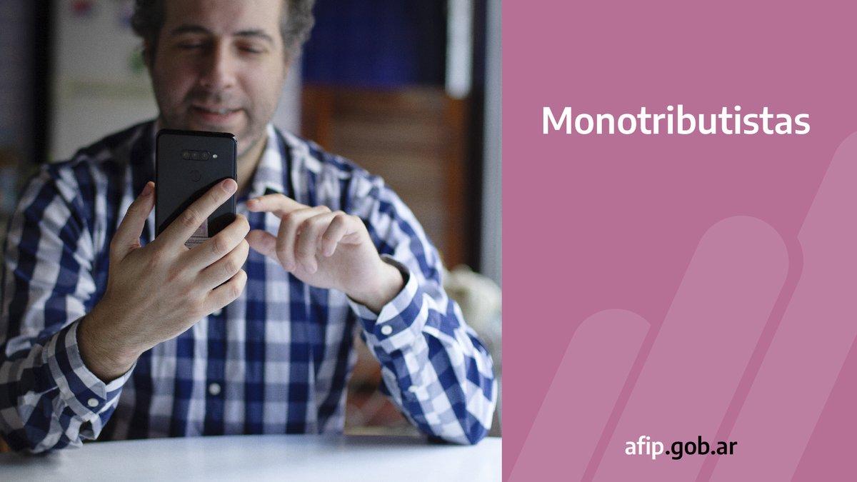 Afip Comunica @AFIPComunica: Monotributistas de todas las categorías tienen que utilizar medios electrónicos para abonar sus obligaciones. Conocé cuáles son los medios de pagos disponibles en https://t.co/qwYBrTFNXB https://t.co/6ZaeBSY5gZ