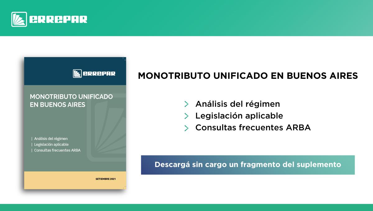 Editorial Errepar @errepar: Te acercamos el nuevo Suplemento especial sobre Monotributo unificado en Buenos Aires.   Accedé a toda la info acá: https://t.co/1FN5OdndIe https://t.co/PbVBbpGQRY
