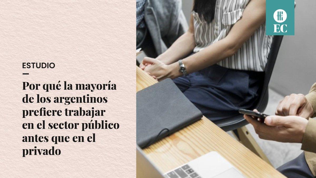 El Cronista @cronistacom: Un 62% de argentinos prefieren trabajar en el Estado. La mayoría de ellos son jóvenes y los fundamentos se basan en «la tranquilidad de no ser despedido y en que el Estado es una entidad que no puede quebrar»   ¿Vos, qué preferís?  Lee más en ????https://t.co/eukPRMlev1 https://t.co/XglXU4gDSs